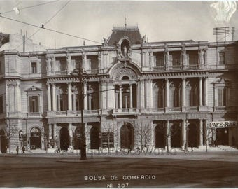 Bolsa de Comercia stock exchange building Buenos Aires Argentina antique photo