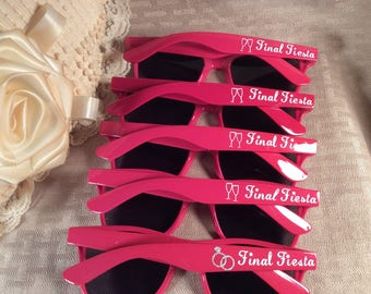 WEDDING SUNGLASSES PERSONALIZED just for You and your wedding party. Destination wedding, bachelorette gift, party favors.