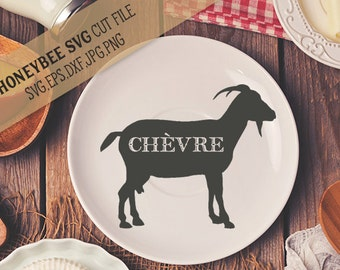 French Goat Silhouette svg Goat svg French Country svg Kitchen svg Farm decor svg Country decor svg Silhouette svg Cricut svg dxf eps jpg