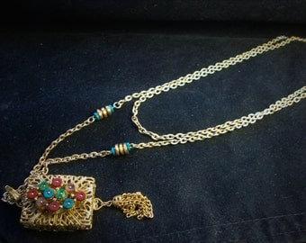 Double Gold Chain with Attachment