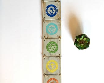 Chakra Wall Hanging, Yoga Decor, Yoga Studio, Chakra Decor, Yoga, Buddist Decor