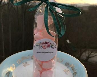 Mini Strawberry Meringue Cookies - Gluten Free