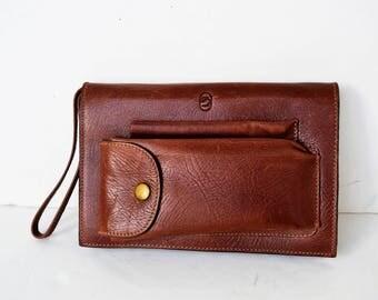 Handbag vintage men's leather handbag