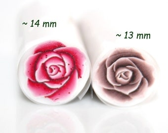 Metallic Pink or Bronze Rose Polymer Cane