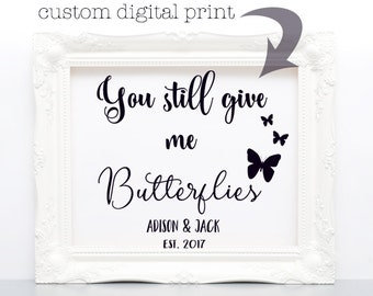 paper anniversary gift for him, personalized paper gift, wedding decoration, bridal shower gift, valentines gift, digital wall art