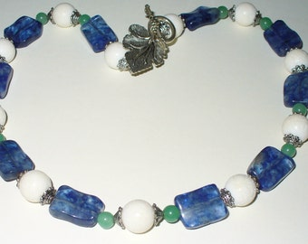 Necklace, tourmaline coral Aventurine necklace
