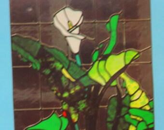 Calla Lily Stained Glass Pattern - Hidden House Window Pattern #CJ-13