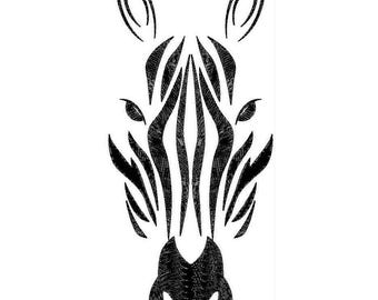 Zebra Face Machine Embroidery Designs - Applique Embroidery Design 4