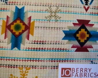 Southwestern Print Laredo by Studio 8 for Quilting Treasures.  Quilt or Craft Fabric, Fabric by the Yard.