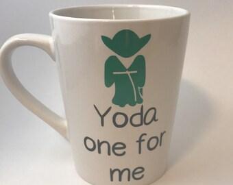 Yoda One For Me Star Wars Valentines Day 14 oz Mug