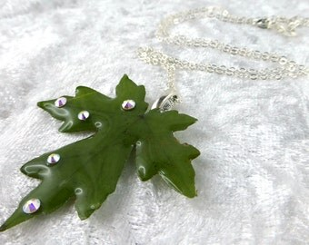 Necklace, 925 Silver, Resin