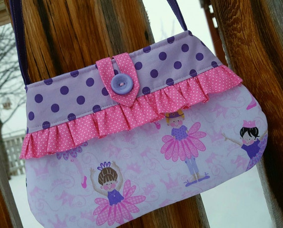 Ballerina Toddler Purse, Little Girl's  Purse with Matching Coin Purse