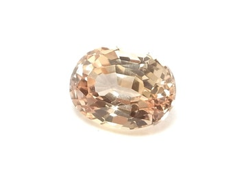 Peach Sapphire - Cultured oval cut IF to VVS clarity  - 2.71 carats  Loose Gemstone