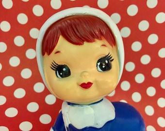Vintage Crawling Baby 1970s Big Eyed Doll Kawaii Collectible Doll
