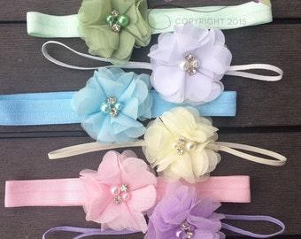 Set of 6 Headbands, Baby Headbands, Newborn Headband Set, Baby Headbands