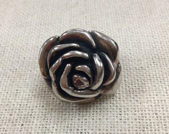 Vintage 925 Sterling Silver 3D Rose Ring!!!