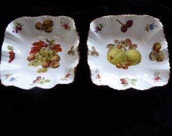 Vintage PAIR Hammersley Bone China Trinket/Nut/Candy/Pin Dish Circa 1930s
