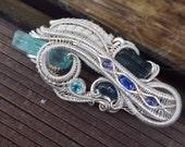 "Wire wrapped pendant - ""Paravidya"""