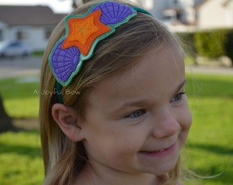 Mermaid headband, mermaid party, under the sea, little mermaid, ariel, starfish hair accessories, seashell accessories
