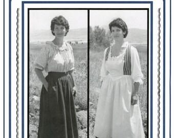 pioneer woman clothing 1800. woman\u0027s 1700s-1800s skirt, petticoat \u0026 aprons sizes 8-20 eagle\u0027s view sewing pioneer woman clothing 1800 t