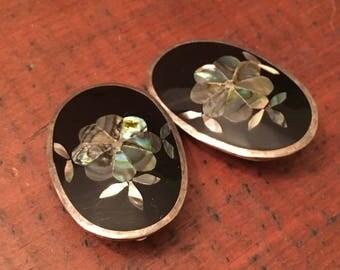 Vintage Alpaca Silver Earrings
