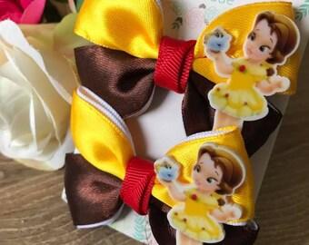 Handmade Pure Cuteness Satin Hair Bow Clips  (2clips)