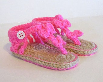 Baby Sandals, Crochet sandals, 6 to 12 months, Baby Girl Sandals, Cute Baby Clothes, girl baby sandals, baby sandles