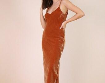 SILK VELVET DRESS   Silk Velvet Slip Dress   Maxi Midi or Mini Lengths   Pretty and Stylish for So Many Occasions