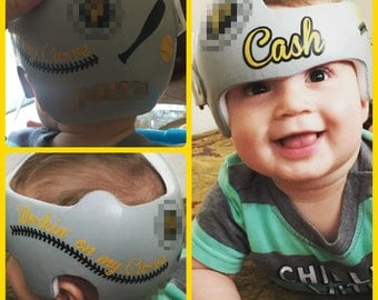 Personalized Cranial Band Under Construction Vehicles Decals - Baby helmet decalspersonalized cranial band fairy decals just tinkering