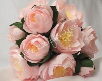 Bridal bouquet, wedding bouquet lotus, paper flower lotus , bridal flowers,lotus flowers,paper flowers,
