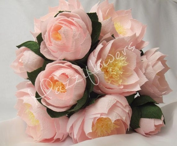 Bridal Bouquet Wedding Lotus Paper Flower