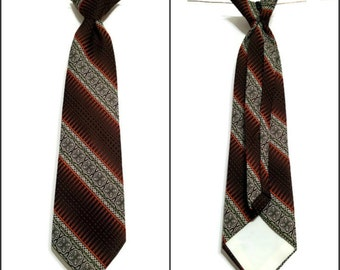 Necktie Clip On Brown Stripes Diagonal
