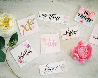 Hand-Made, Custom Watercolor & Calligraphy Cards w/Envelopes