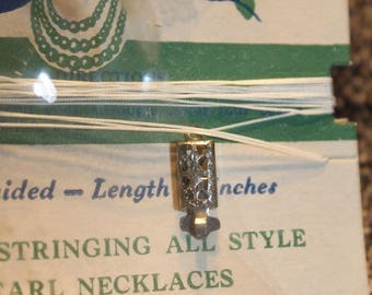 1940's Vintage Restringing Outfit For Pearl Necklace with clasp, Original Package