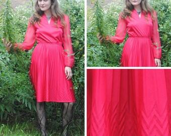 Pink Dress - Stylish Pink Dress, Vintage Red Dress, Vintage Dresses