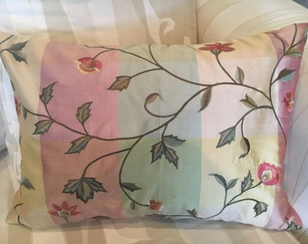 14x18in Embroidered silk pillow cover