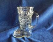 Vintage Cowboy Boot Glass with Handle