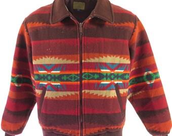 Vintage 90s Southwestern Pendleton Jacket Mens XL Wool Talon Zip [H60V_3-2]