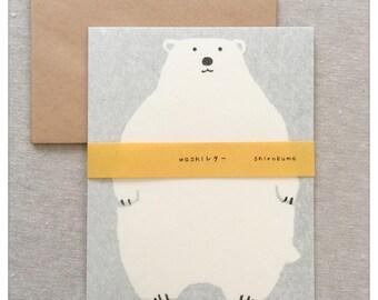 Japanese Stationery Letter Writing Set - Polar Bear Design by Furukawa Shiko