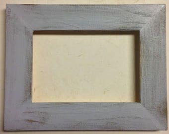 "1-1/2"" Blue/Gray Distressed Picture Frame"
