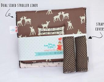 Stroller Set- Reversible Stroller Liner & matching Shoulder Straps, city select accessories, pram liner, strap covers, new born must have