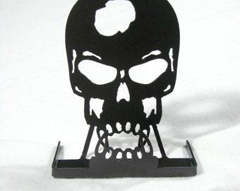 Vampire Skull Business Card Holder CNC Plasma Cut Steel