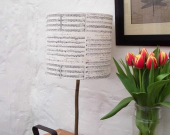 Italian/French Musical Score Lampshade