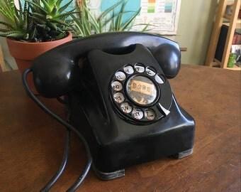 Vintage Art Deco-Style Kellogg Rotary Telephone
