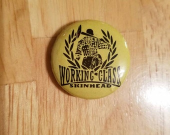 Working Class Skinhead button