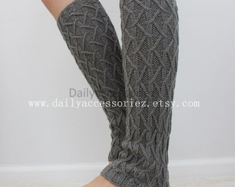 gray womens leg warmers, soft knit leg warmers, leg warmers adult, boot socks, for girls, for women, Christmas Gifts, for her, for mom
