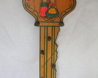 Vintage Wood Key Holder - Key-per of Keys - Far Rockaway NY