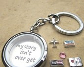 Visa Travelling Kit MY Story Floating Charm Keepsake Locket charms Keyring NecklaceMagnetic