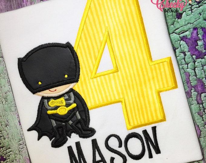Batman Super Hero Birthday Shirt