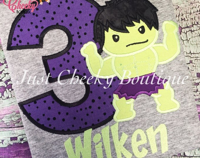 The Incredible Hulk Cutie Embroidered Shirt - Avengers Inspired -